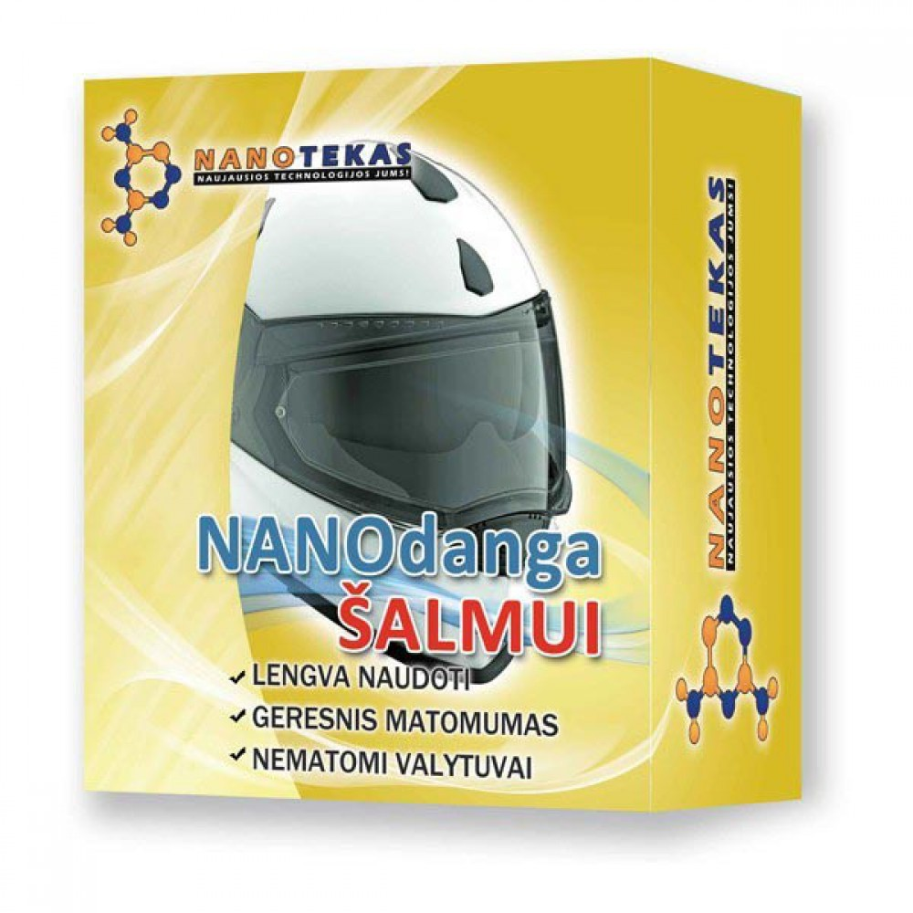 Nano danga šalmo stiklui Helmet Coating, 60ml